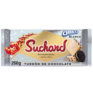 SUCHARD. Turrón de chocolate blanco OREO.