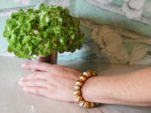 Load image into Gallery viewer, Pamela Gold & Pearl Stretch Bracelet