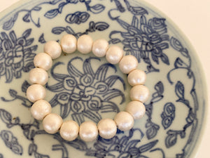 Olivia Cotton Pearl Stretch Bracelet