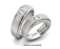 Shop Platinum Love Bands & Rings