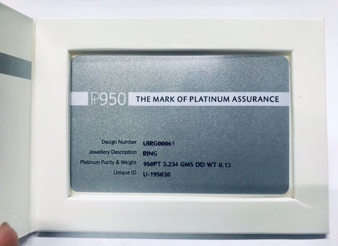 PGI Certificate of Authenticity for Platinum Jewellery - Jewelove