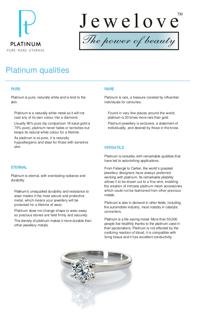 Most Important Qualities of platinum that make it suitable for kings