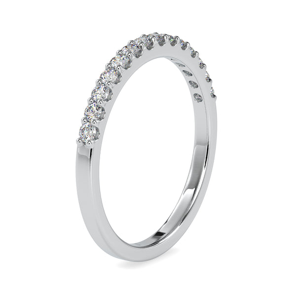 Half Eternity Platinum Ring with Diamonds for Women JL PT US-0003