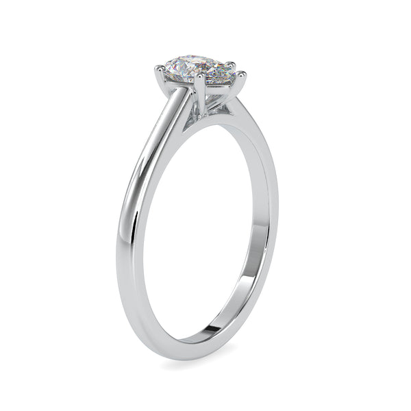Pear Diamond Solitaire Engagement Ring for Women Crafted in Platinum JL PT US-0006