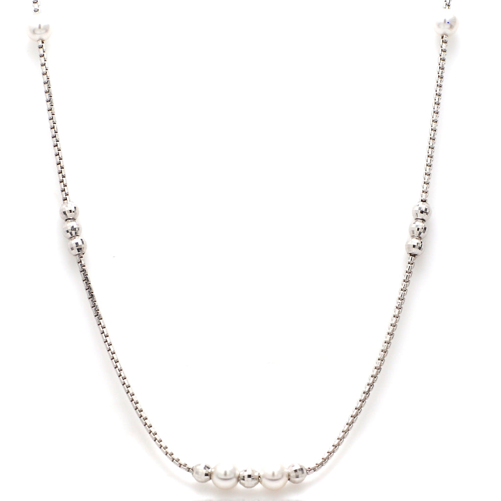 Platinum Chain with Pearls JL PT CH 651