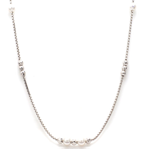 Platinum Chain with Pearls JL PTCH 651
