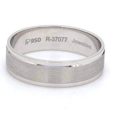 Front View of Designer & Elegant Platinum Couple Rings for Men JL PT 532