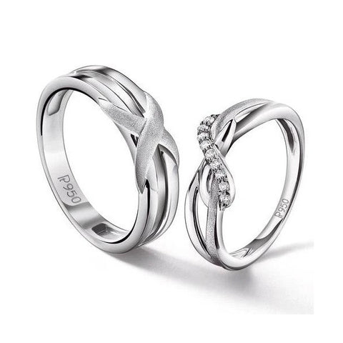 Designer Platinum Couple Rings for Him & Her JL PT 536