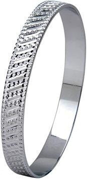 Broad Platinum Bangle with Diamond Cut SJ PT 301 in India