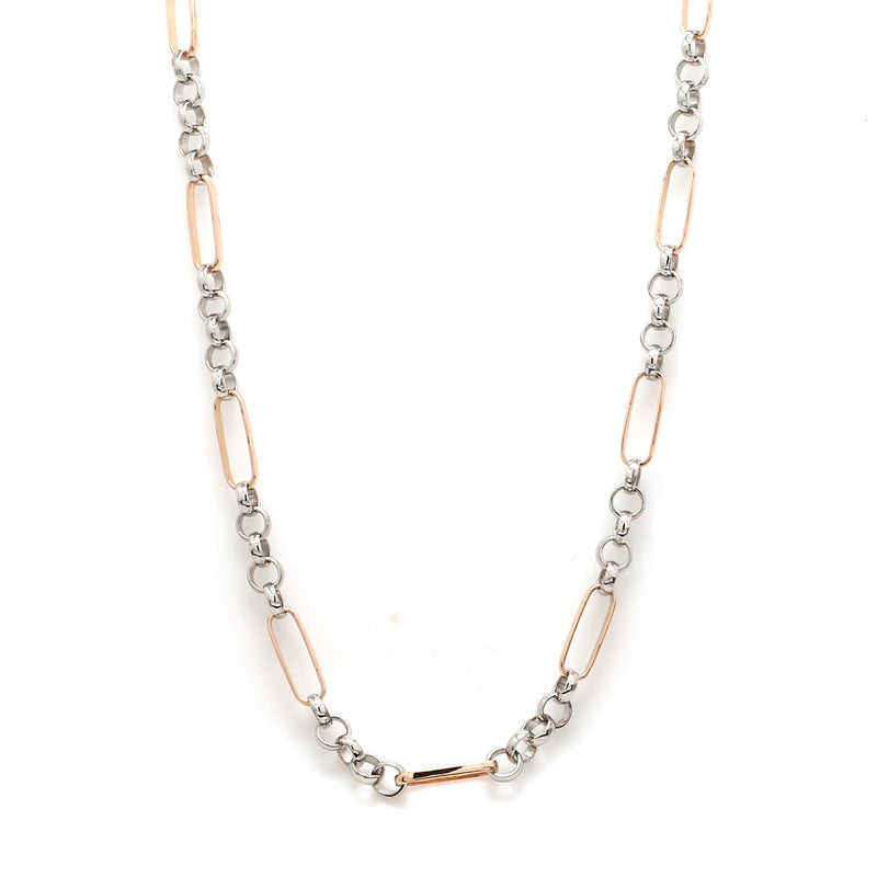 Platinum & Rose Gold Chain for Men JL PT CH 868
