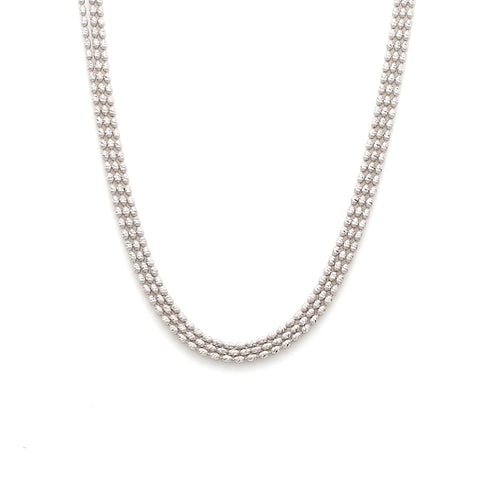 Japanese 3 Line Platinum Chain with Diamond Cut Balls JL PT CH 857
