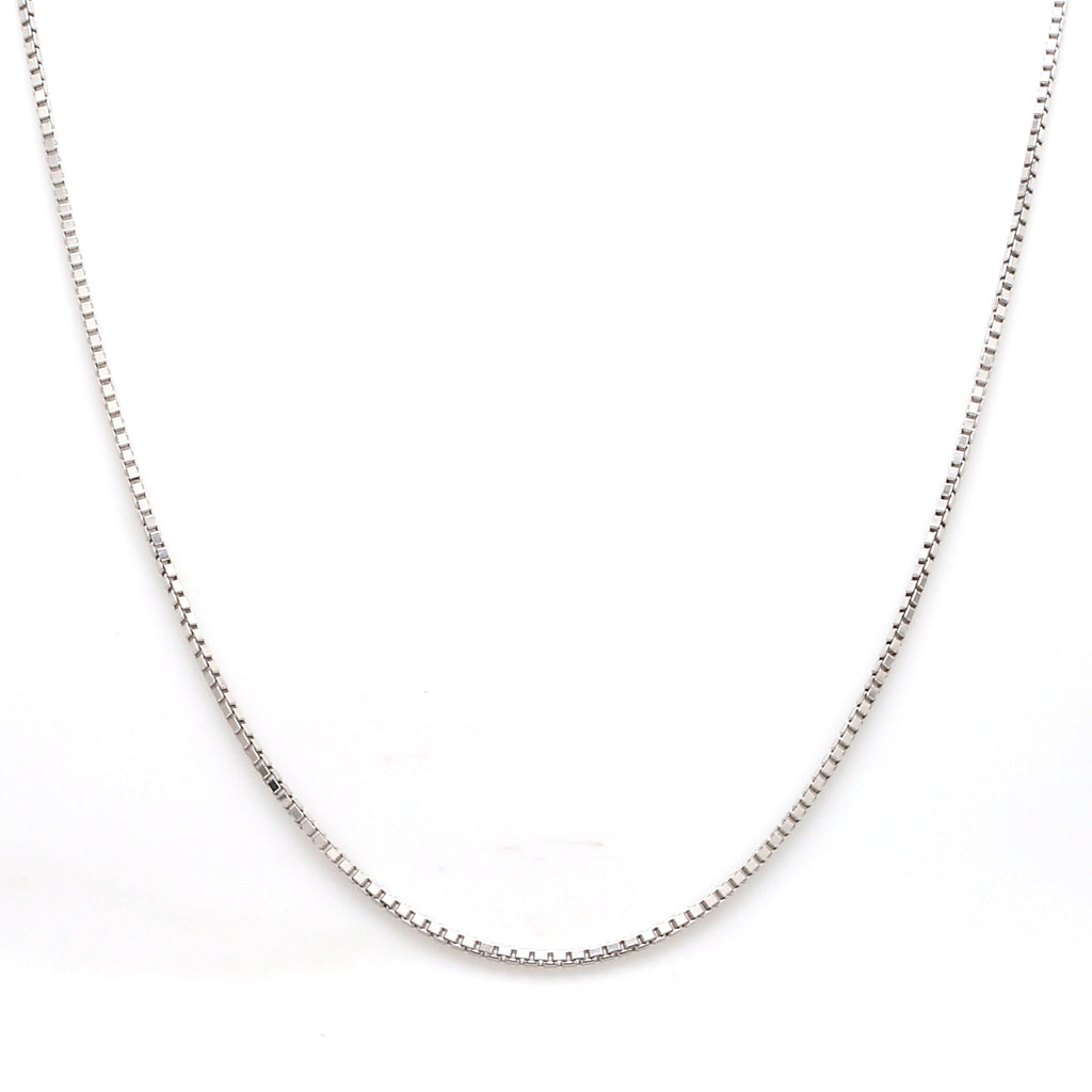 Japanese Plain Platinum Box Chain for Men SJ PTO 702 - Men