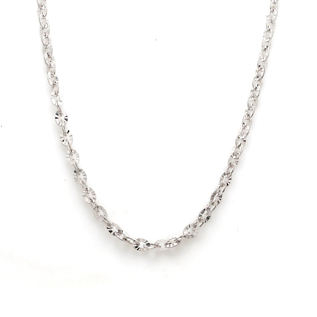 Japanese Platinum Chain with Shiny Texture for Women JL PT CH 659