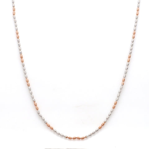 Platinum Japanese Chain with Rose Gold Polish JL PT CH 841