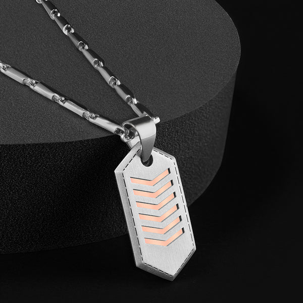 Men of Platinum | Striking Dual Tone Platinum & Rose Gold Pendant for Men JL PT P 190