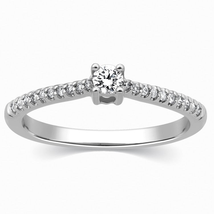 20 Pointer Platinum Solitaire Ring for Women SJ PTO 307 in India