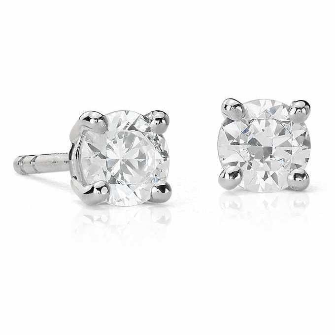 20 Pointer Each Diamond Earring Studs SJ E 101 in India