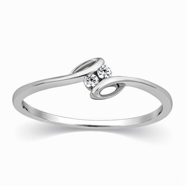 2 Diamond Platinum Ring for Girls SJ PTO 301 – Jewelove™