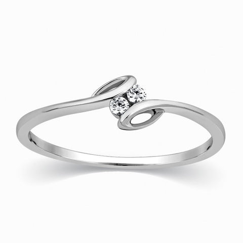 2 Diamond Platinum Ring for Girls SJ PTO 301 in India