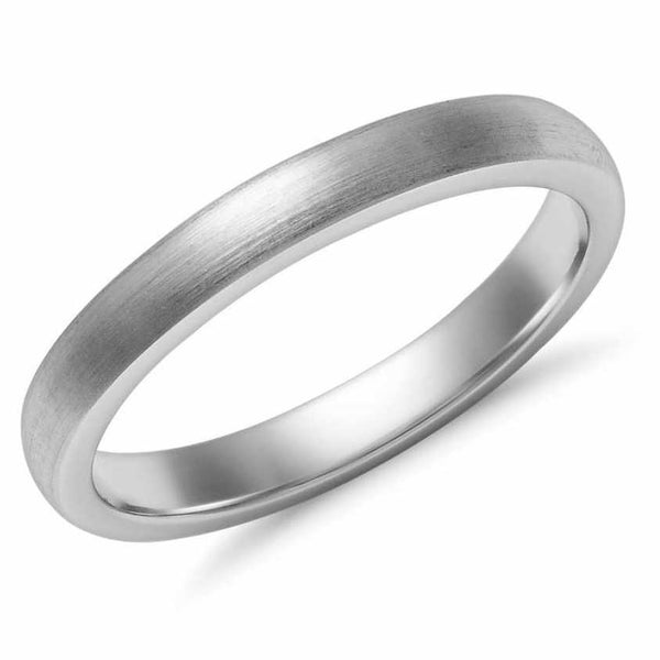 Classic 3mm Platinum Ring Matte Finish SJ PTO 249 in India