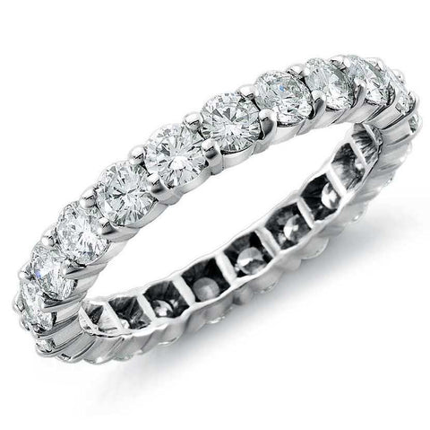 10 pointer Diamonds Full Eternity Platinum Wedding Band for Women SJ PTO 250 in India