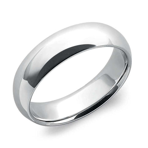 6mm Comfort Fit Platinum Wedding Band for Men SJ PTO 258 in India