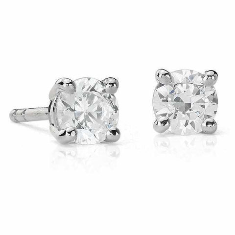 50 pointer Solitaire Diamond Earrings in Platinum SJ PTO E 154 in India