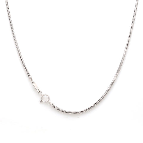 Thicker Plain Platinum Snake Chain Anklet