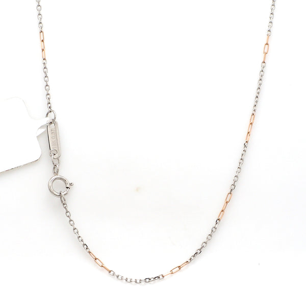 Thin Platinum & Rose Gold Chain for Women JL PT CH 954