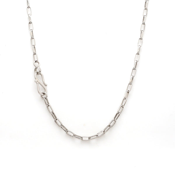 Thin Platinum Chain with Rectangular Links JL PT CH 905
