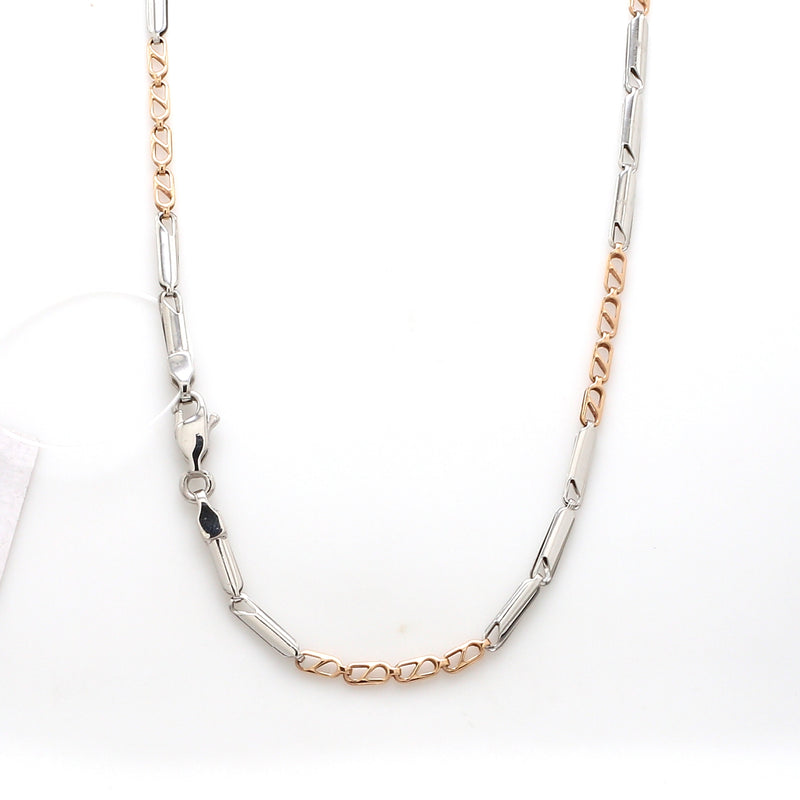 Designer Uni-Sex Platinum & Rose Gold Chain JL PT CH 955