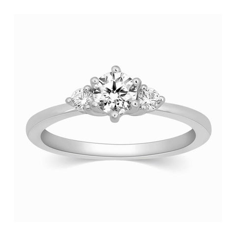 3 Diamond Platinum Engagement Solitaire Ring JL PT 326