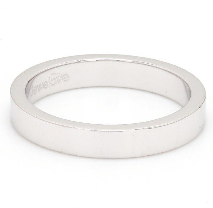 Side View of 3mm Flat Platinum Wedding Band SJ PTO 223 - Flat