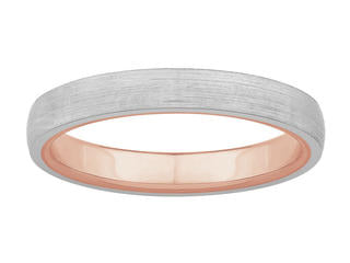 3mm Platinum Band with Rose Gold Band Inside JL PT 439-A