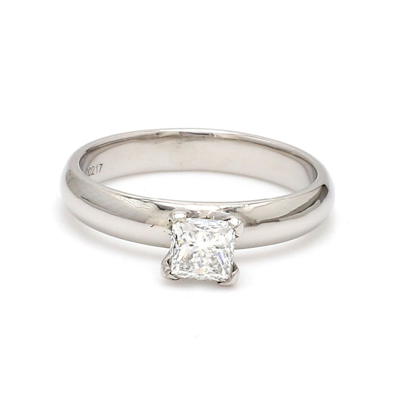 30 Pointer Princess Cut Solitaire Platinum Ring with 4 Prongs JL PT 440-A