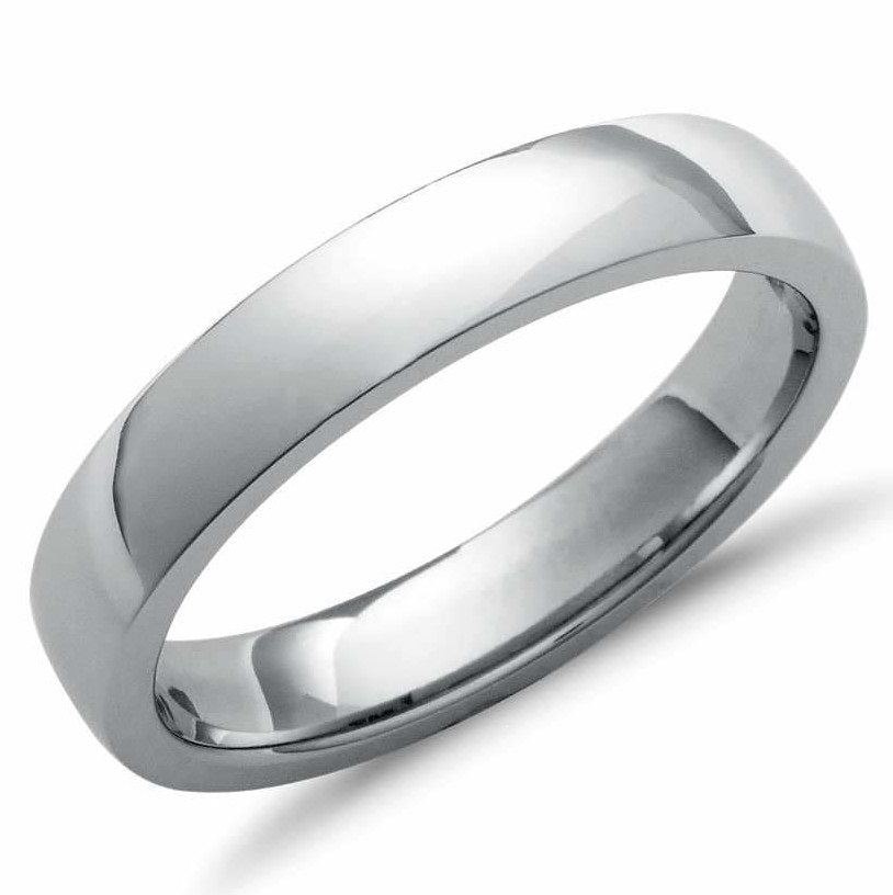 4mm Comfort Fit Platinum Wedding Band SJ PTO 260