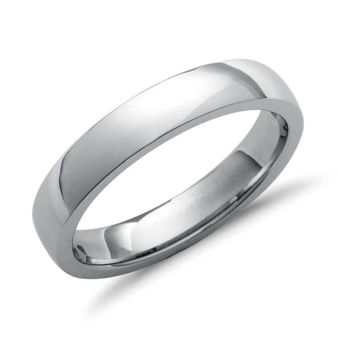 4mm Comfort Fit Platinum Wedding Band SJ PTO 260 - Suranas Jewelove