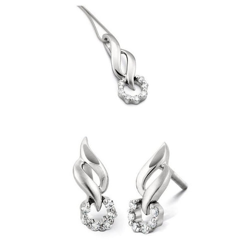 Platinum Studs with Prong set Diamonds SJ PTO E 106