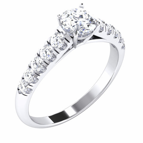 50 Pointer Platinum Solitaire Engagement Ring for Women JL PT 478