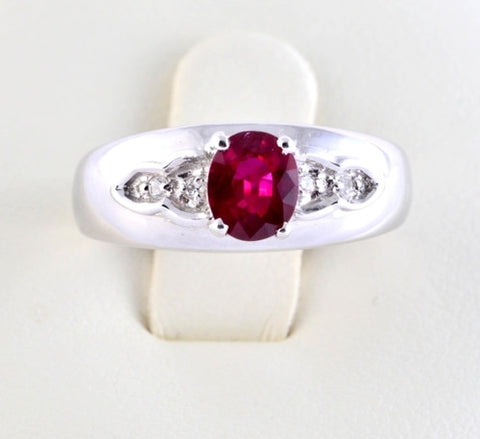 Burmese Ruby & Diamond Ring JL R 64 in India
