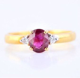 Burmese Ruby & Diamond Ring JL R 58