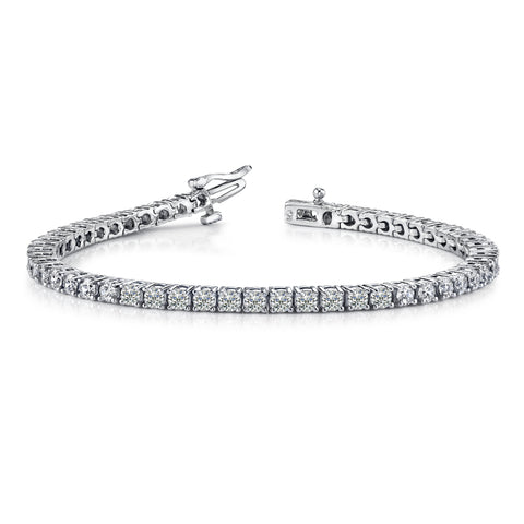7 Pointer Single Line Platinum Tennis Bracelet with Diamonds JL PTB 646