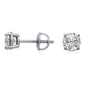 1.40cts. Diamond Solitaire Earrings SJ B 282