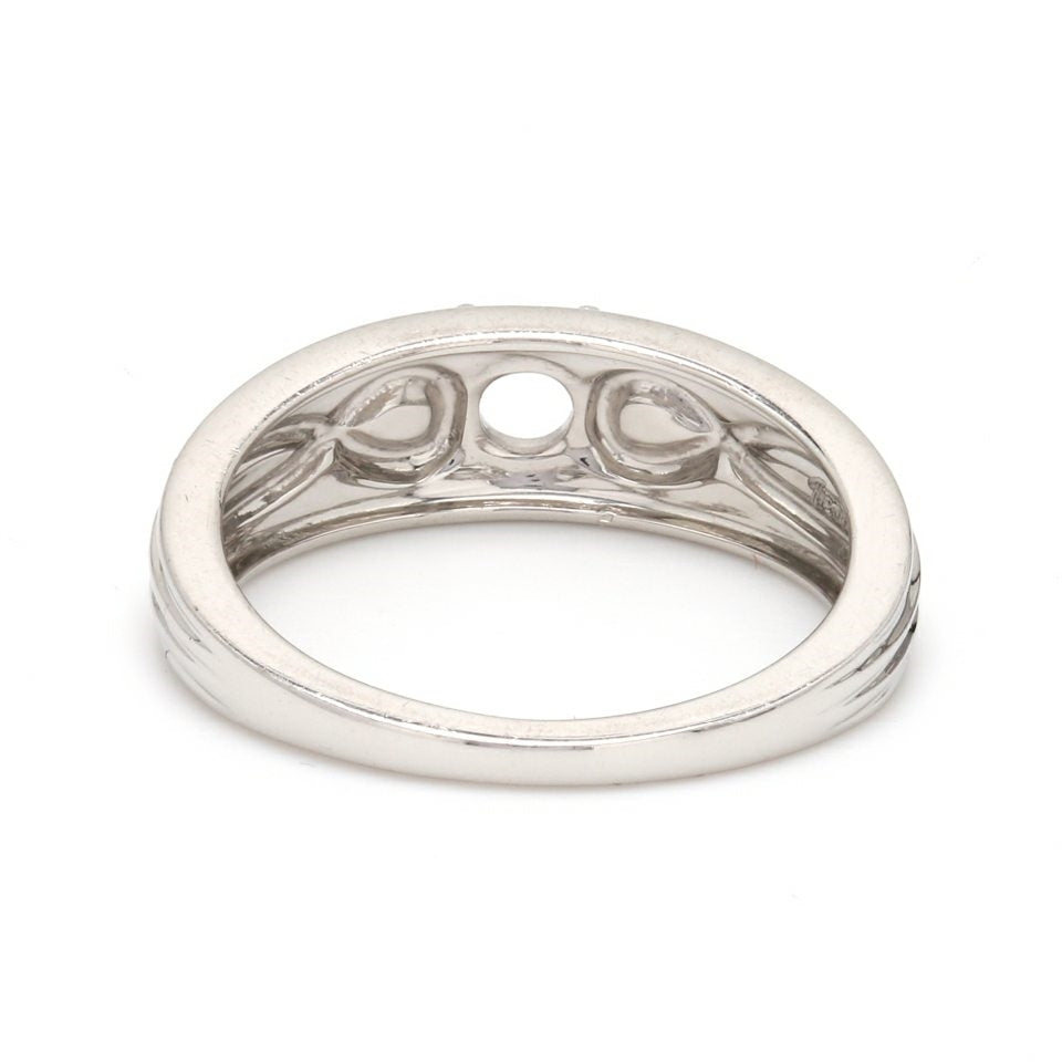 Infinity Platinum: Infinity Solitaire Engagement Ring Mounting In Platinum JL