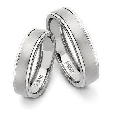 Classic Platinum Love Bands without Diamonds SJ PTO 104 in India