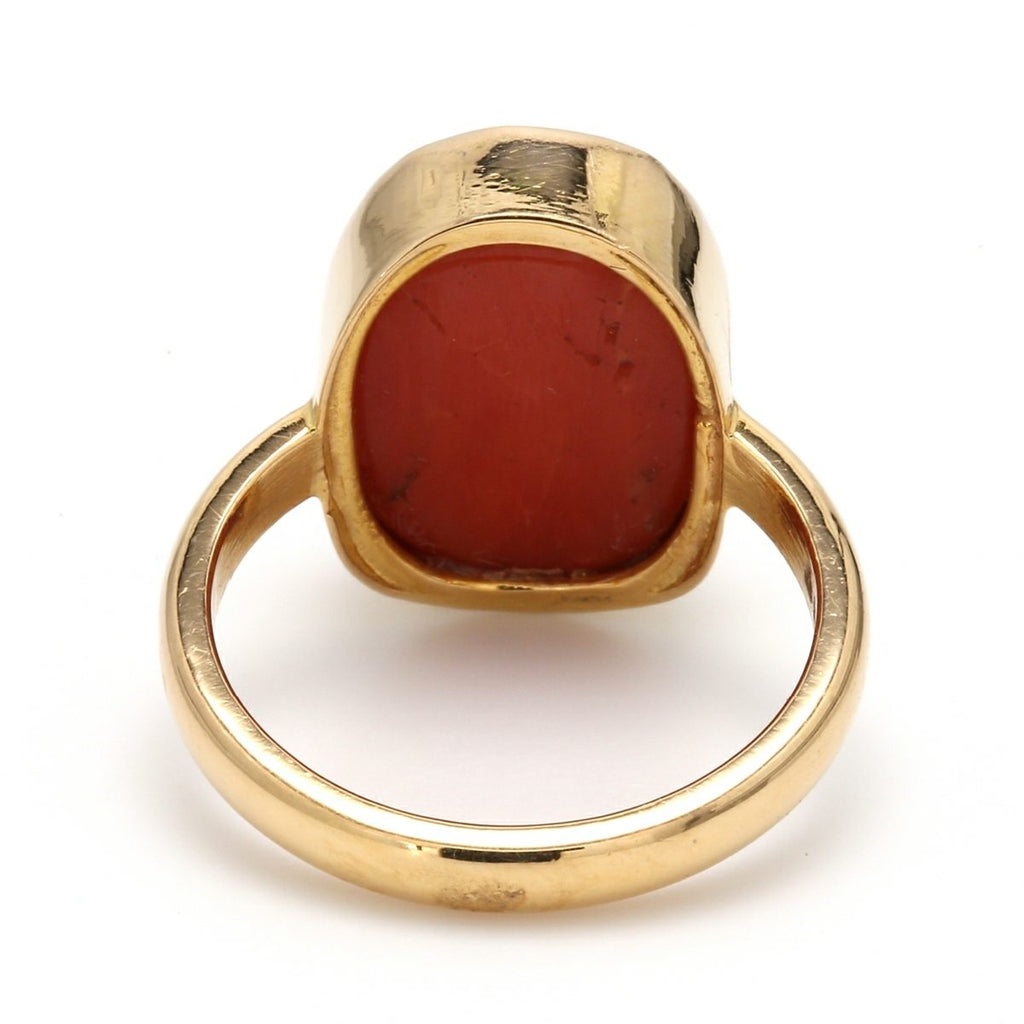 Customised Coral / Moonga Ring in 18K Gold – Jewelove™