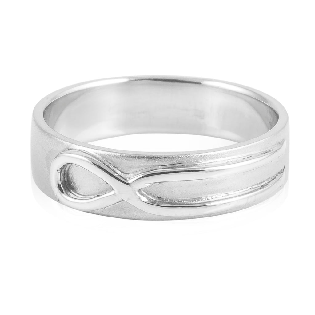love platinum plain products pto sj ring knot customised infinity bands
