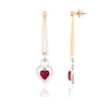 Platinum Chandeliers with Rose Gold, Diamonds & Red Heart JL PT E 8087