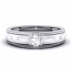 Designer Platinum Solitaire Band for Men JL PT 5854