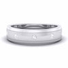 5 Diamond Unisex Platinum Wedding Band JL PT 5892